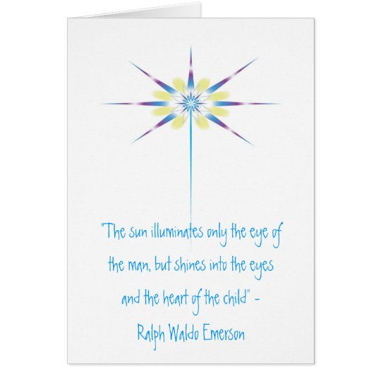 "Beam of Light, ""The sun illuminates only the ey... Card"