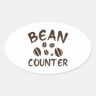 Bean Counter Oval Sticker