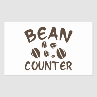 Bean Counter Rectangle Stickers
