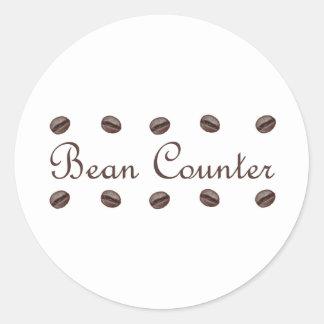 Bean Counter Round Sticker