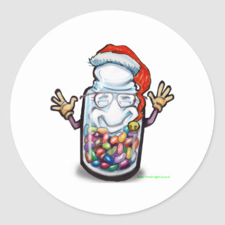 Bean Counters Christmas Classic Round Sticker