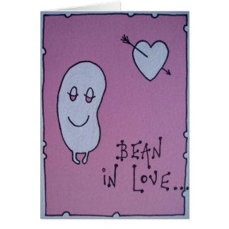bean in love card