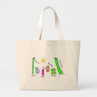 Bean Puns Large Tote Bag