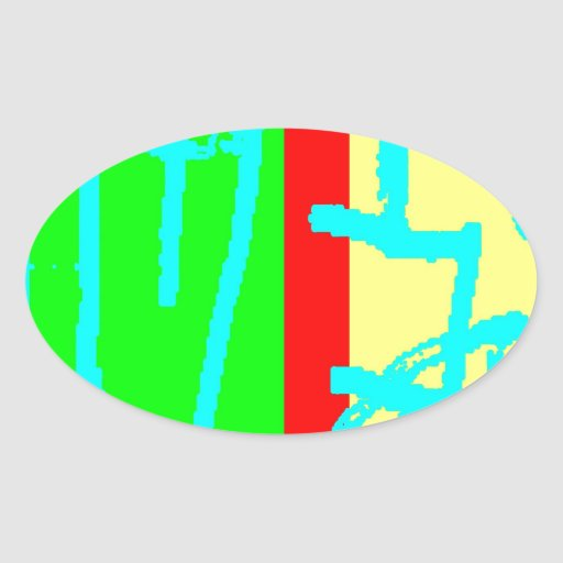 Bean Saw 8 Oval Stickers