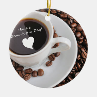 Bean-tastic Coffee Celebration Christmas Ornament