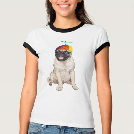 Beanie Pug T Shirt