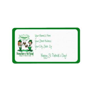 BEANNACHTAM NA FEILE PADEAIG Happy St Patricks Day Address Label