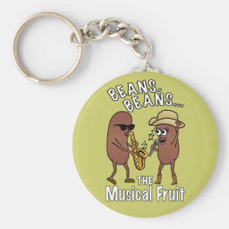 Beans, Beans - The Musical Fruit Basic Round Button Key Ring