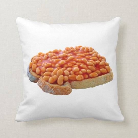Beans On Toast Throw Pillow