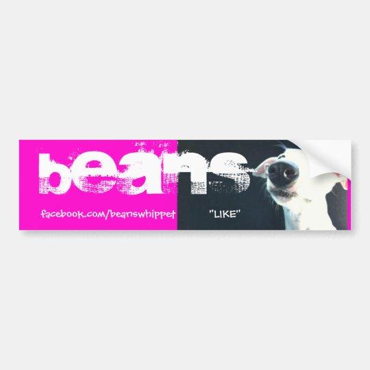 "Beans The Whippet Bumper Sticker ""LIKE"""