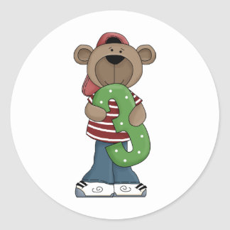 Bear 3 Year Old Stickers