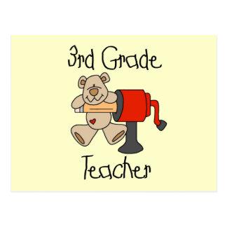 Bear 3rd Grade Teacher Tshirts and Gifts Postcard