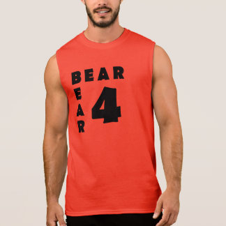 Bear 4 Bear Black Text Gay Bear Sleeveless Shirt