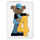 Bear 4 Year Old Card