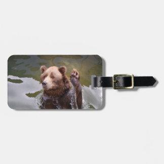 bear-78 luggage tag