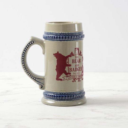 Bear and Badger Heraldic Beer Stein