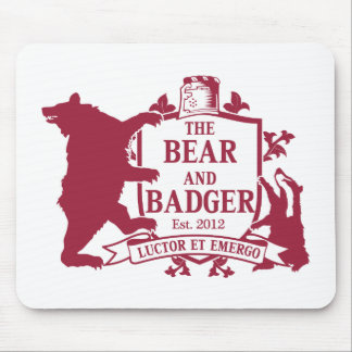 Bear and Badger Heraldic Mouspad Mouse Mat
