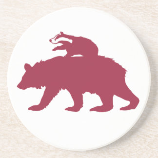 Bear and Badger Logo Coaster
