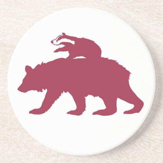 Bear and Badger Logo Coaster