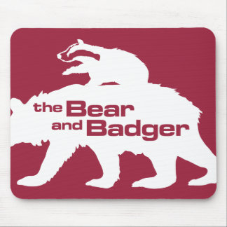 Bear and Badger Logo Mousepad