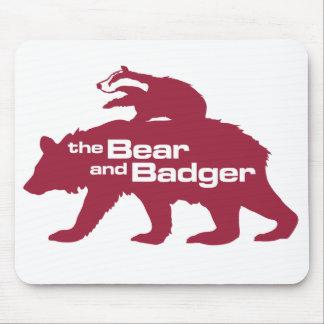 Bear and Badger Logo Mousepad