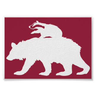 Bear and Badger Logo Poster