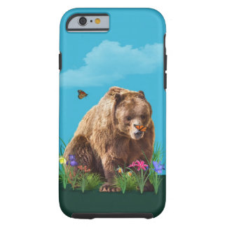 Bear and Butterflies Fantasy  Customizable Tough iPhone 6 Case