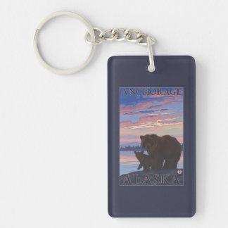 Bear and Cub - Anchorage, Alaska Key Ring