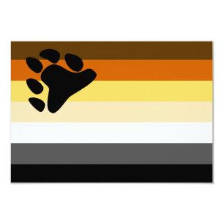 Bear and Cub Community LGBT Gay Pride Flag Custom Invite