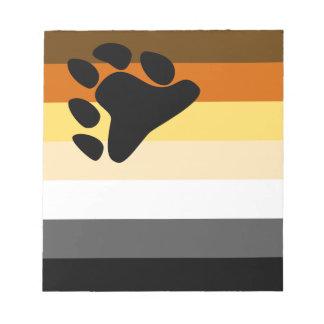Bear and Cub Community LGBT Gay Pride Flag Notepad