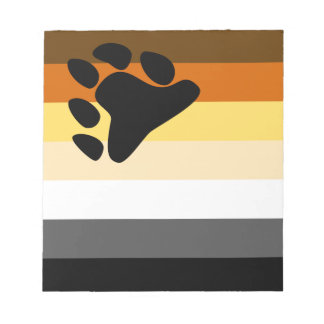 Bear and Cub Community LGBT Gay Pride Flag Notepads