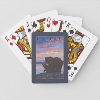 Bear and Cub - Curry, Alaska Playing Cards
