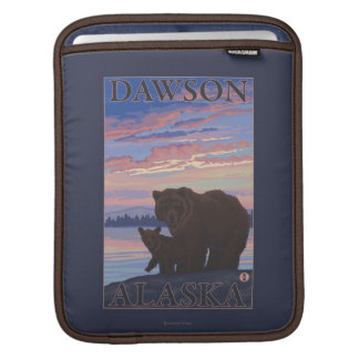 Bear and Cub - Dawson, Alaska iPad Sleeve