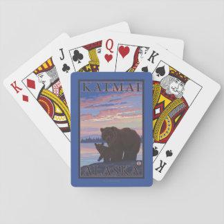 Bear and Cub - Katmai, Alaska Poker Deck
