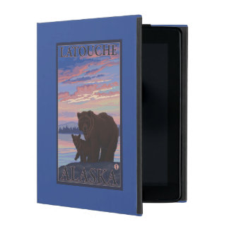 Bear and Cub - Latouche, Alaska iPad Case