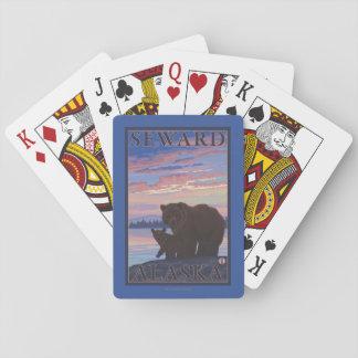 Bear and Cub - Seward, Alaska Playing Cards