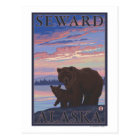Bear and Cub - Seward, Alaska Postcard