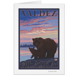 Bear and Cub - Valdez, Alaska Greeting Card