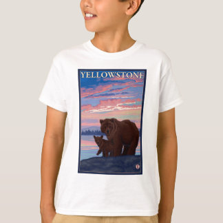 Bear and Cub - Yellowstone National Park T-Shirt