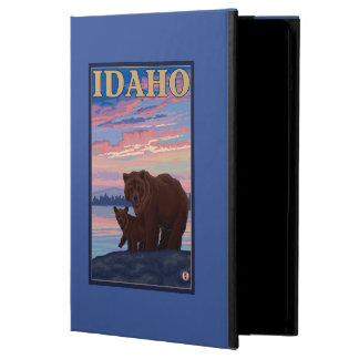 Bear and CubIdahoVintage Travel Poster Cover For iPad Air