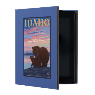 Bear and CubIdahoVintage Travel Poster iPad Folio Case