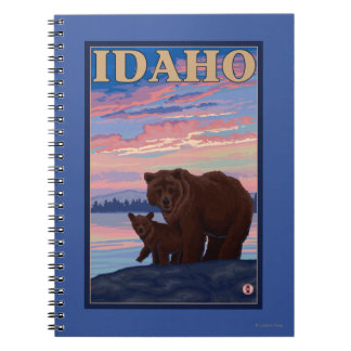 Bear and CubIdahoVintage Travel Poster Notebooks