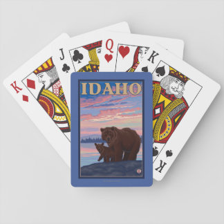 Bear and CubIdahoVintage Travel Poster Playing Cards