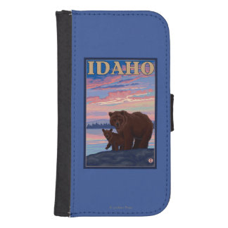 Bear and CubIdahoVintage Travel Poster Samsung S4 Wallet Case