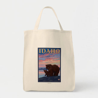 Bear and CubIdahoVintage Travel Poster Tote Bag