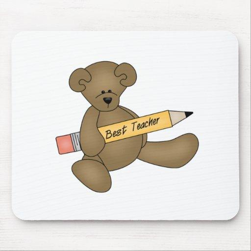 Bear and Pencil Best Teacher Mouse Pad