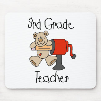 Bear and Sharpener 3rd Grade Mouse Pads