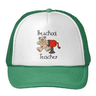 Bear and Sharpener Preschool Teacher Cap
