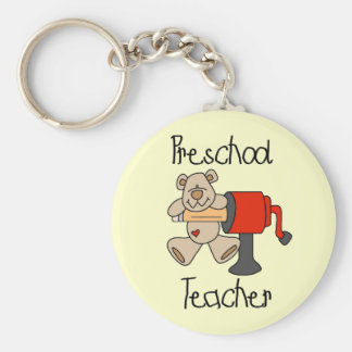 Bear and Sharpener Preschool Teacher Key Ring