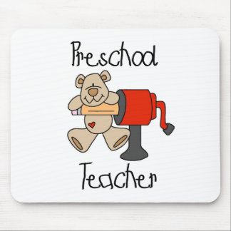 Bear and Sharpener Preschool Teacher Mouse Mats